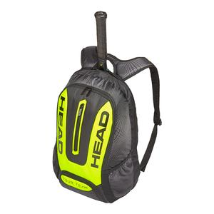 Extreme Tennis Backpack Black and Neon Yellow