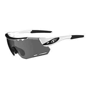Alliant Sunglasses White and Black with Smoke Lenses