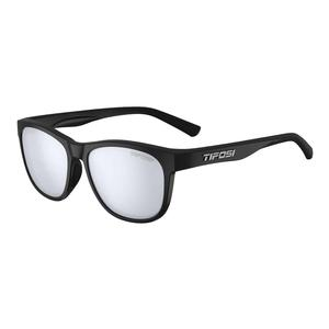 Swank Sunglasses Satin Black with Smoke Bright Blue Lenses