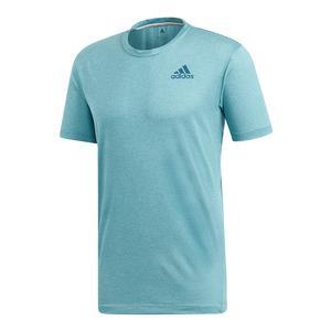 Men`s Parley Striped Tennis Top Blue Spirit and Petrol Night