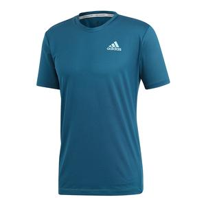 Men`s Parley Striped Tennis Top Legend Ink and Petrol Night