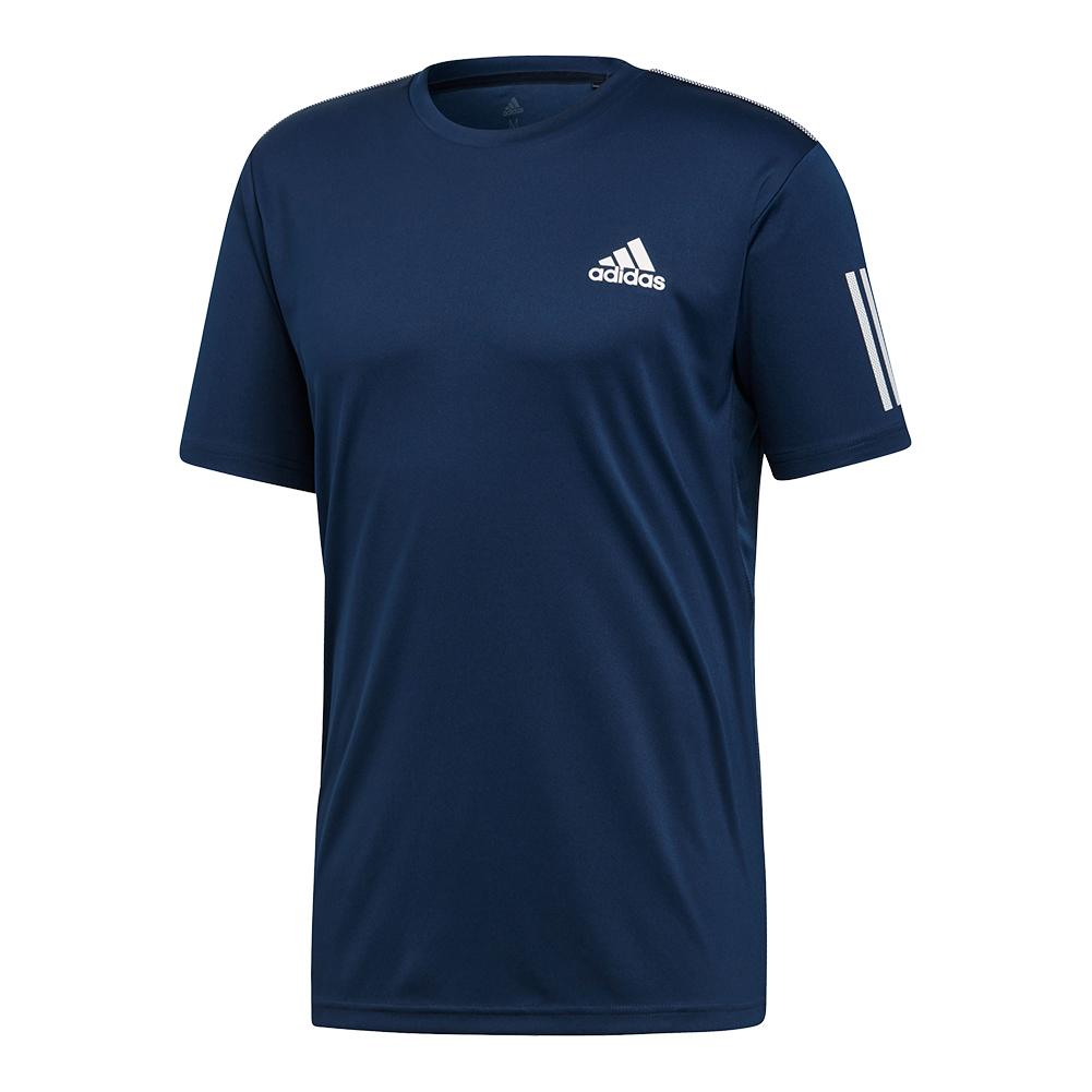 Men's Club 3 Stripes Tennis Top Collegiate Navy And White