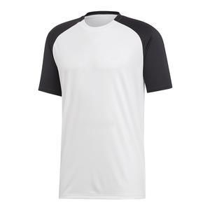 Men`s Club Color-Block Tennis Top White and Black