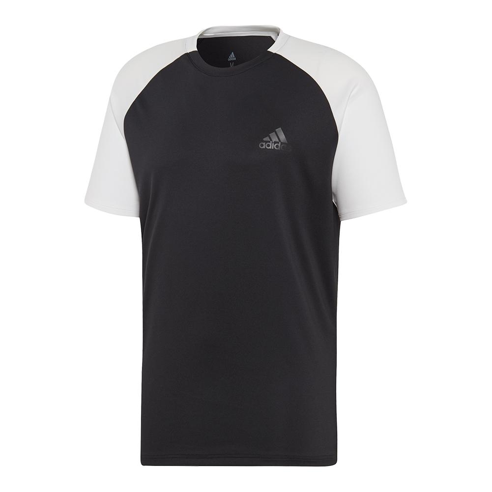 Men's Club Color- Block Tennis Top Black And White