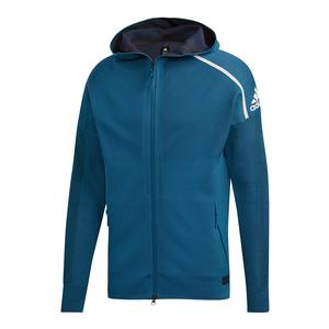 Men`s Parley Primeknit ZNE Tennis Hoody Petrol Night