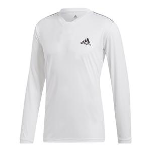 Men`s Club UV Protect Long Sleeve Tennis Top White and Black
