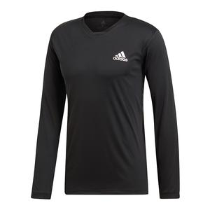 Men`s Club UV Protect Long Sleeve Tennis Top Black and White