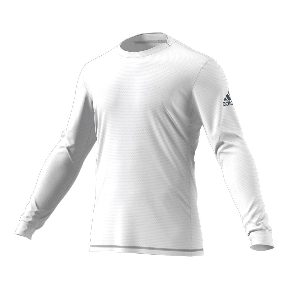 Men's Long Sleeve Tennis Top White