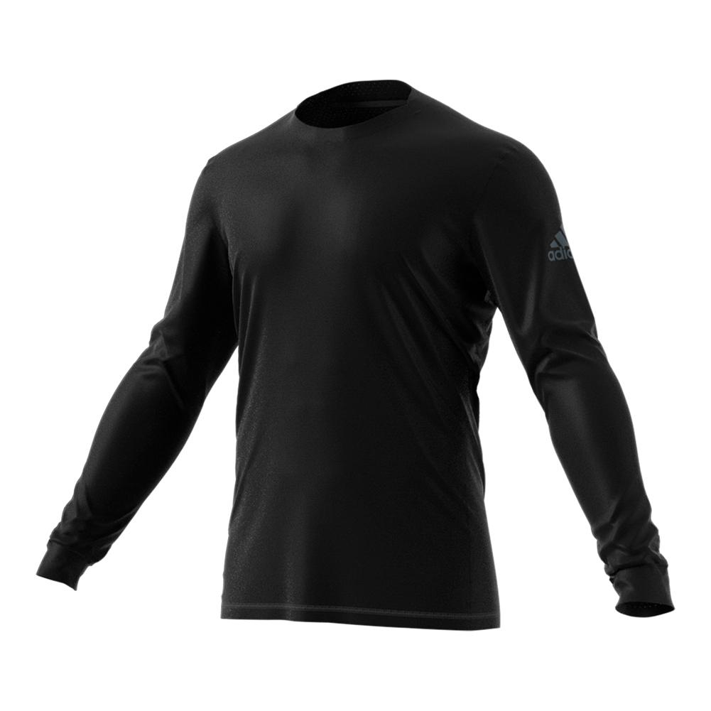 Men's Long Sleeve Tennis Top Black