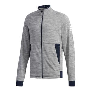 Men`s Knit Tennis Jacket Grey Six