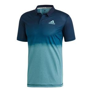 Men`s Parley Tennis Polo Blue Spirit and Petrol Night