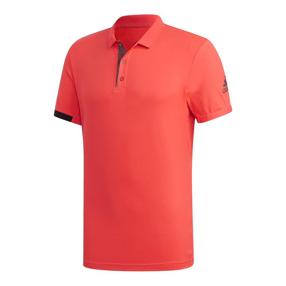 Men's Matchcode Tennis Polo Shock Red And Night Metallic