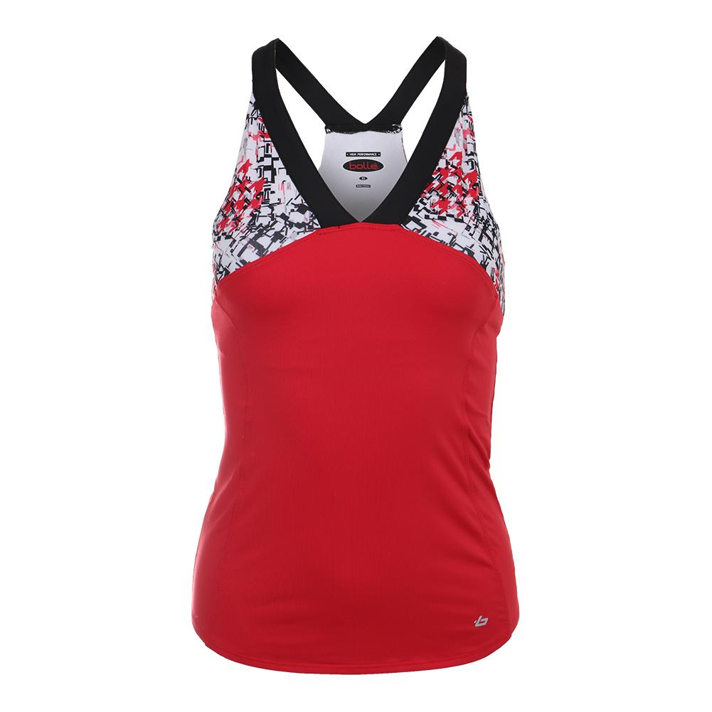 Women's Checkmate Tennis Tank Red