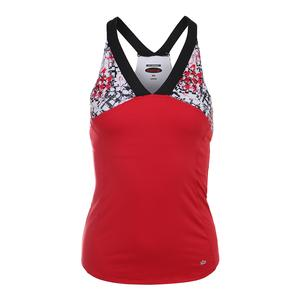 Women`s Checkmate Tennis Tank Red