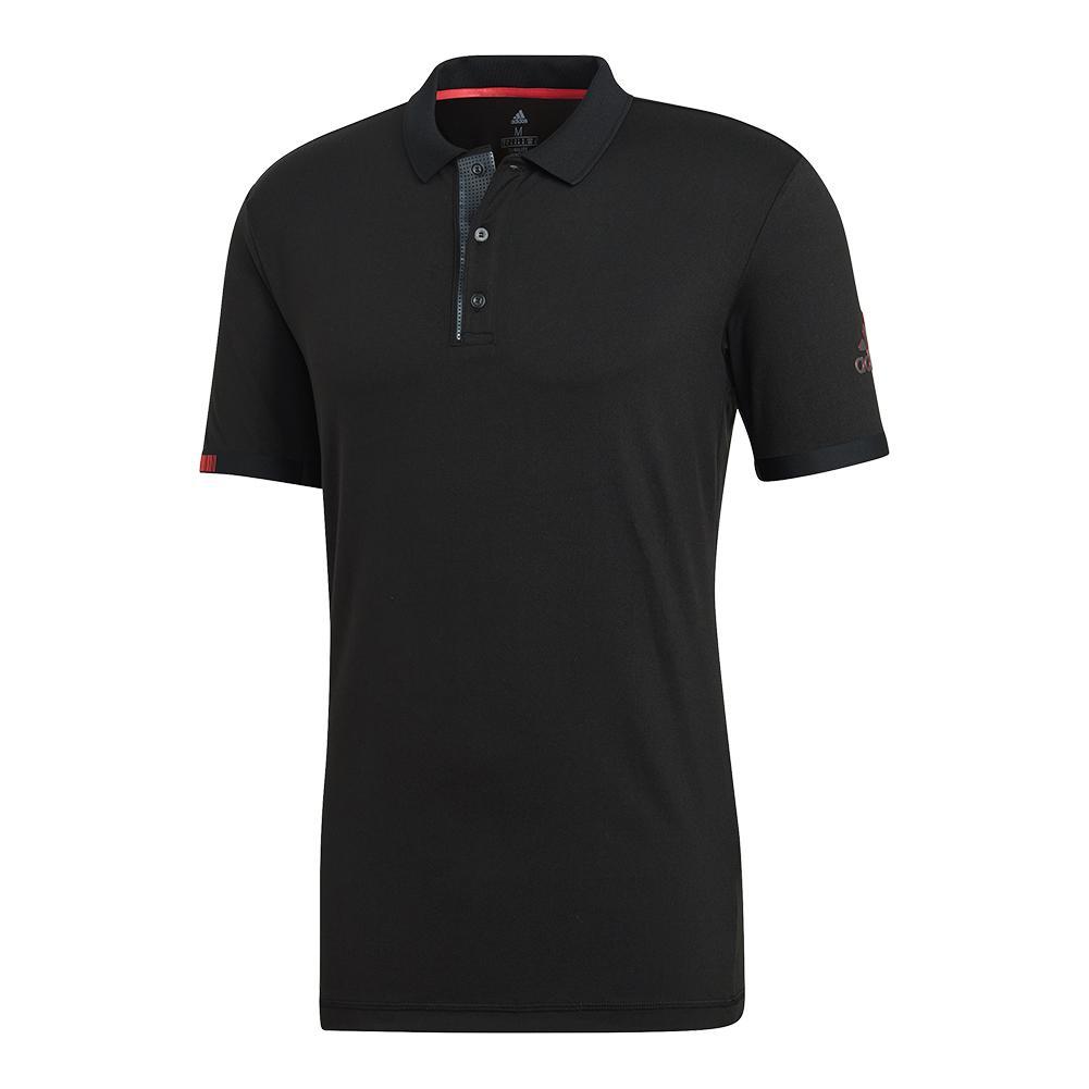 Men's Matchcode Tennis Polo Black And Night Metallic