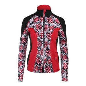 Women`s Checkmate Tennis Jacket Print and Black