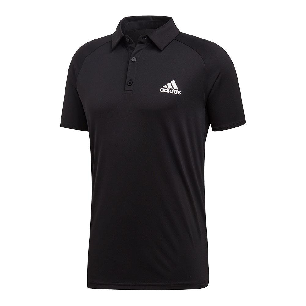 Men's Club Color- Block Tennis Polo Black And White