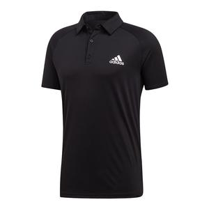 Men`s Club Color-Block Tennis Polo Black and White