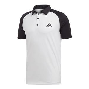 Men`s Club Color-Block Tennis Polo White and Black