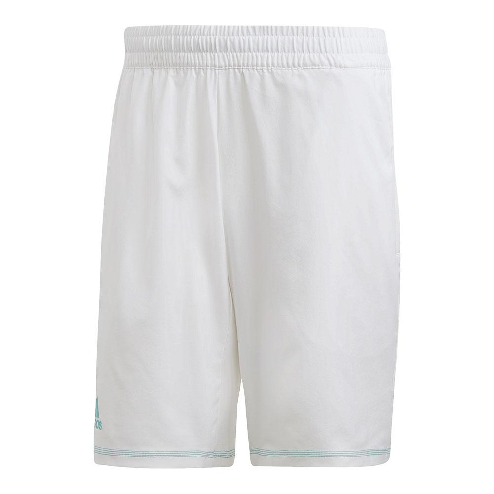 Men's Parley 9 Inch Tennis Short White