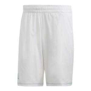 Men`s Parley 9 Inch Tennis Short White