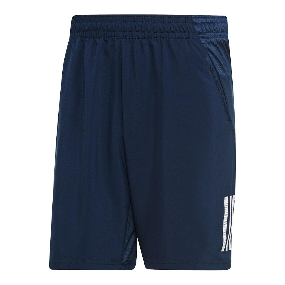 Men's Club 3 Stripes 9 Inch Tennis Short Collegiate Navy And White