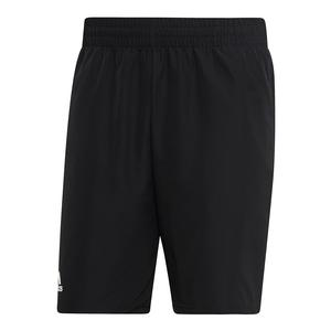 Men`s Club 9 Inch Tennis Short Black and White