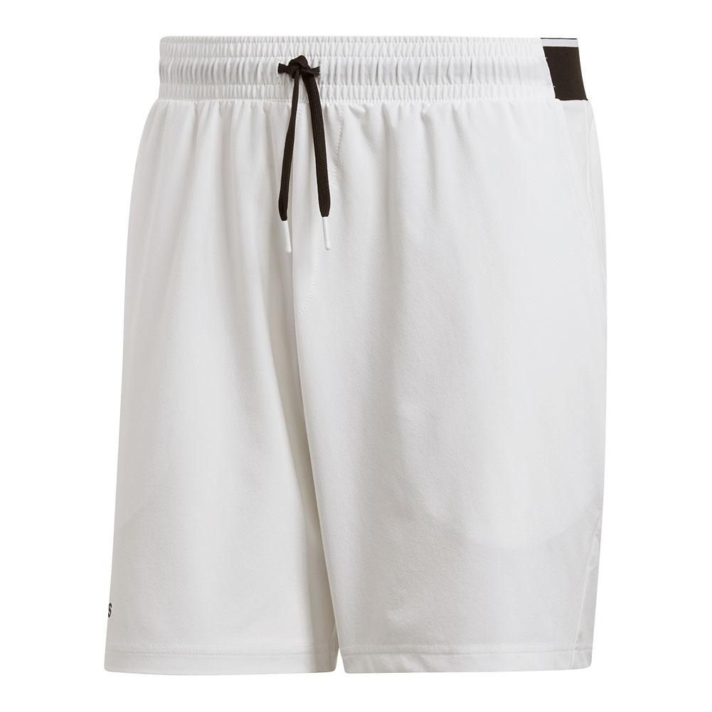 Men's Club Stretch Woven 7 Inch Tennis Short White