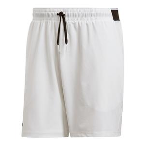 Men`s Club Stretch Woven 7 Inch Tennis Short White