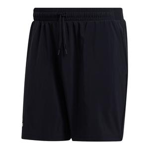 Men`s Club Stretch Woven 7 Inch Tennis Short Black
