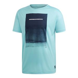 Men`s Parley Graphic Tennis Tee Blue Spirit