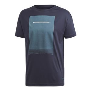 Men`s Parley Graphic Tennis Tee Legend Ink