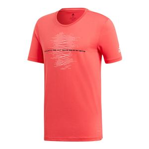 Men`s MatchCode Graphic Tennis Tee Shock Red