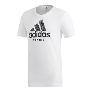 Men`s Category Graphic Tennis Tee White