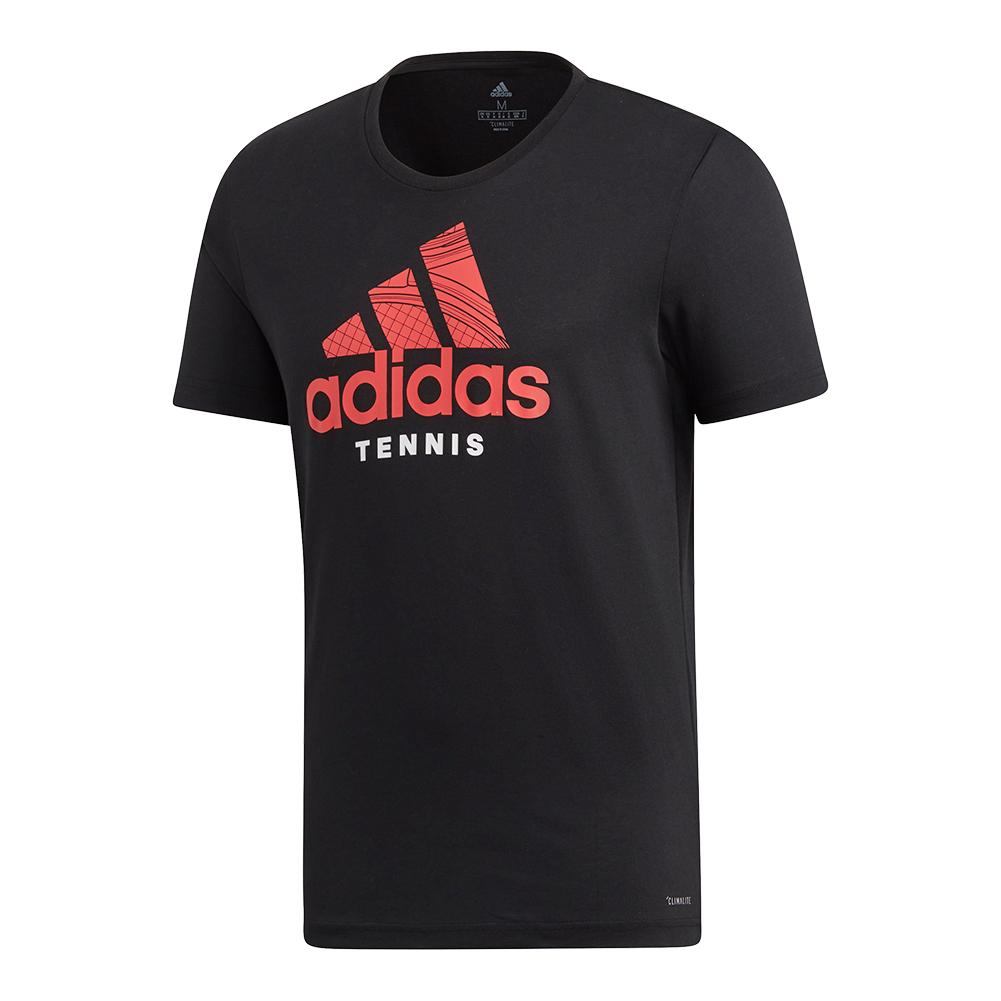 Men's Category Graphic Tennis Tee Black