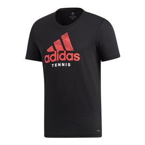 Men`s Category Graphic Tennis Tee Black