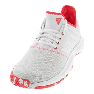 Women`s GameCourt Multicourt Tennis Shoes White and Shock Red