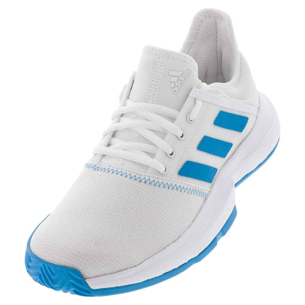 ffb6208d3b344 Women s Gamecourt Wide Tennis Shoes White And Shock Cyan. Zoom. Hover to  zoom click to enlarge