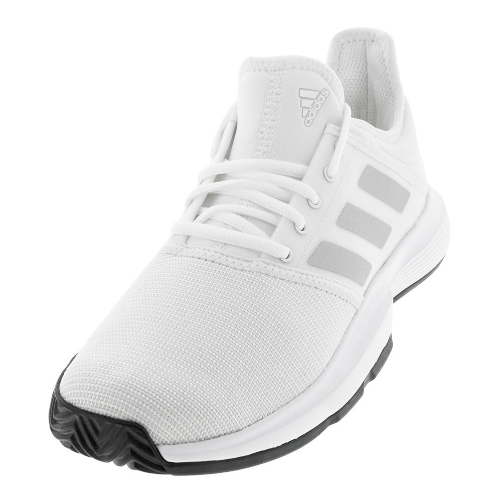 best website d6d0b c3a5a Adidas Men s GameCourt Tennis Shoes White and Black