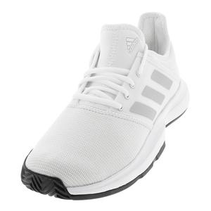 Men`s GameCourt Tennis Shoes White and Black