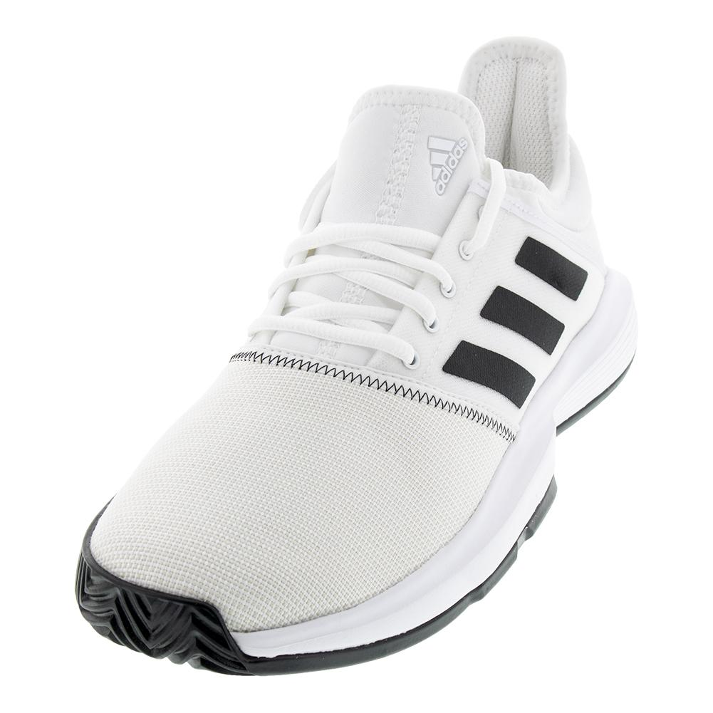 Men's Gamecourt Wide Tennis Shoes White And Black