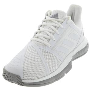 Women`s CourtJam Bounce Tennis Shoes White and Light Granite