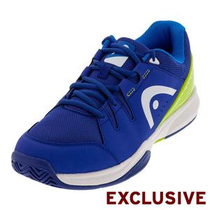 Men`s Brazer Tennis Shoes Blue and Green