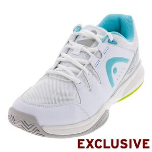 Women`s Brazer Tennis Shoes White and Silver
