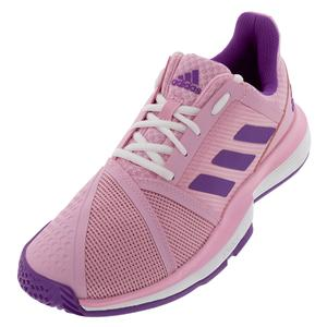 quality design 43dd8 0559f SALE Women`s CourtJam Bounce Multicourt Tennis Shoes True Pink and Active  Purple Adidas ...