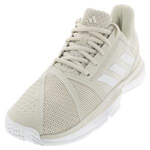 Women`s CourtJam Bounce Tennis Shoes Raw White and Matte Silver