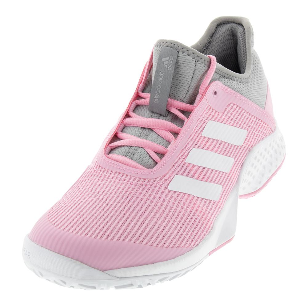 sports shoes 6ffef c462d ADIDAS ADIDAS Womens Adizero Club 2 Tennis Shoes Light Granite And True  Pink