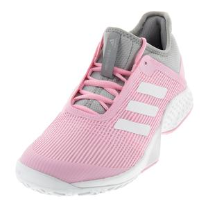 Women`s Adizero Club 2 Tennis Shoes Light Granite and True Pink
