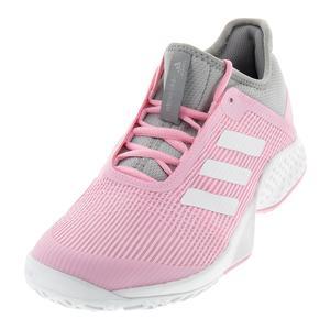 Women`s Adizero Club 2 Tennis Shoes Light Granite and True Pink