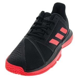 Men`s CourtJam Bounce Tennis Shoes Black and Shock Red